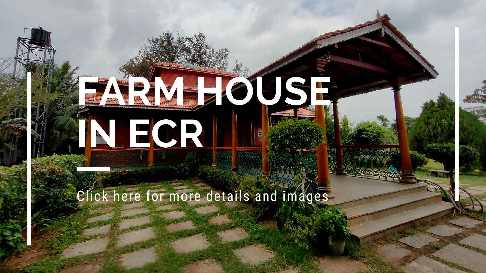 farm house in ecr for rent